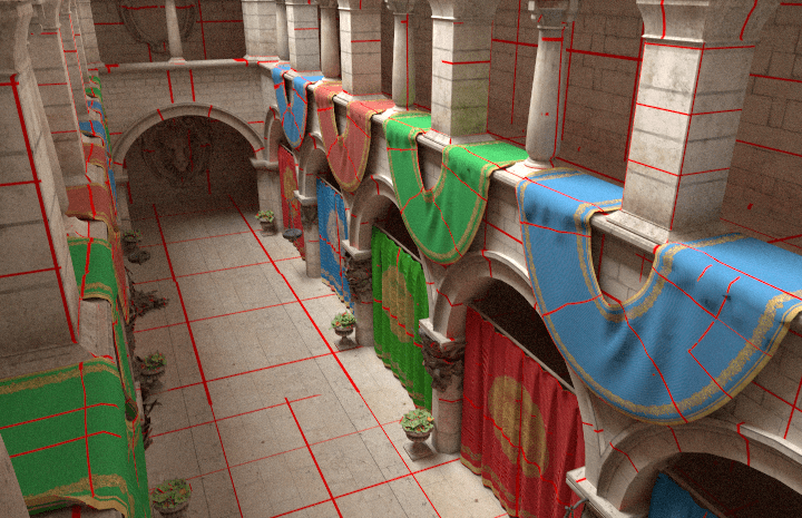 Path Traced Virtual Textures in Sponza Palace